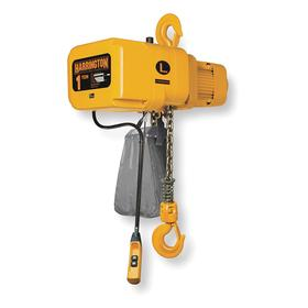 Harrington Continuous-Duty Harsh-Environment Electric Chain Hoist: 15 ft Lift, 208/230/460V AC, 4000 lb Max Load Capacity