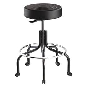 Bevco Stool: Ergonomic Stool, Plastic, 25 1/4 to 30 1/4 in Seat Ht Range, 14 1/2 in Seat Wd, 3 1/2 in Seat Thickness