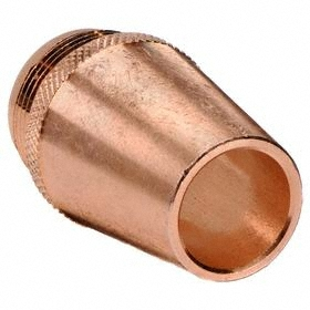 Radnor MIG Welding Gun Nozzle: 0.625 in Bore Dia, Threaded, 1/8 in Recessed & Fine Threaded, Copper, 2 PK