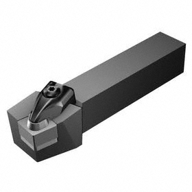 Sandvik Coromant Indexable Turning Toolholder: 1 1/2 in Shank Wd, 1 1/2 in Shank Ht, 6 in Overall Lg, 75° Side Cutting Edge Angle