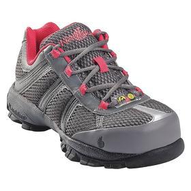 Static-Dissipative Athletic-Style Work Shoe: D Shoe Wd, 8 1/2 Women's Size, Women, Steel, Leather/Nylon, Gray/Pink, 1 PR