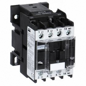 IEC Contactor: 3 Poles, Single/Three Phase, 12 A Current Rating, 240V AC Control Volt, 1 hp - Single Phase @ 120V
