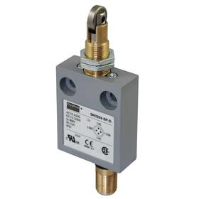 Roller Plunger Miniature Limit Switch: Zinc, 1NO/1NC Pole-Throw Configuration, Stainless Steel, 1.31 in Actuator Lg, 4.14 in Overall Ht