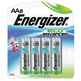 Energizer Battery: Alkaline, 2700 mAh Capacity, 1.5 V DC Nominal Volt, AA Battery Size, Single-Cell Battery, 8 PK