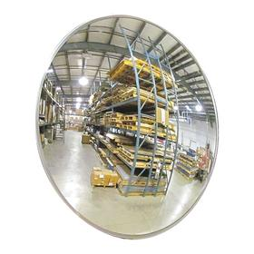 Convex Mirror: Coated Hardboard, 12 in Dia, 12 ft Viewing Distance, Vinyl Coated Aluminum, Indoor & Outdoor, Fixed