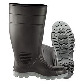 Chemical-Resistant Protective Rubber Boot: Chemical Resistant/Slip Resistant, D Shoe Wd, 15 Men's Size, Steel, 1 PR