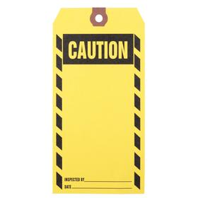 Inspection Tag: 6 1/4 in Overall Ht, 3 1/8 in Overall Wd, Paper, Caution, Date___/Inspected By___, 1000 PK