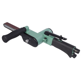 Air-Powered Belt Sander for Versatile Sanding: Variable Speed, 18 in Belt Lg, 3/4 in Max Belt Wd, 15 3/8 in Overall Lg