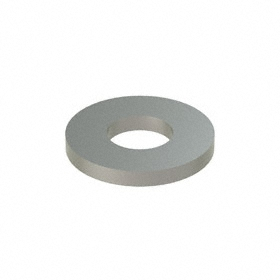 Oversized Flat Washer: 18-8 Stainless Steel, For No. 12 Screw Size, 0.25 in ID, 0.5 in OD, 0.065 in Thickness, 50 PK