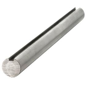 Keyed Shaft: Inch, Polished, 1045 Material Grade, Steel, 1 1/4 in Shaft Dia, 1/4 in Keyway Wd, 1/8 in Keyway Ht, 60 in Overall Lg