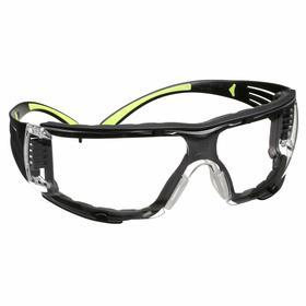 Glasses: Frameless Frame, Clear, Anti-Fog, Black, ANSI Z87.1-2003