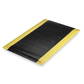 Anti-Fatigue Mat: Medium, 3 ft Wd, 5 ft Lg, 9/16 in Thickness, Black, Yellow, X-Tread