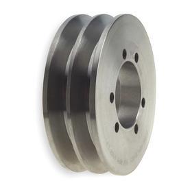 Gates V-Belt Pulley: For 5V & 5VX Section, Solid, 2 Grooves, 7.5 in OD, 5V Belt Section Size, Bushed Bore, For SK