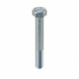 "Steel Hex Cap Screw: Zinc Plated, Grade 5 Material Grade, 3/8""-16 Thread Size, 2 3/4 in Shank Lg, 9/16 in Head Wd, 25 PK"