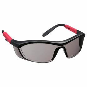 Honeywell Safety Glasses: Gray, Half Frame, Anti-Fog/Anti-Static/Scratch Resistant, Black/Red, ANSI Z87.1-2010/CSA Z94.3-2007
