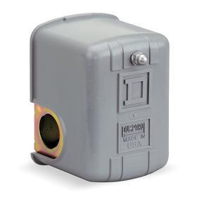 Schneider Electric Water Pump Pressure Switch: 20 psi Factory Pressure Setting - On, 5 psi Min Deactuation Pressure, Std