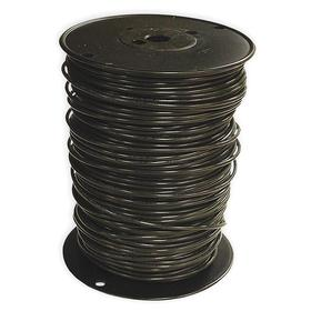THHN Building Wire: Black, Solid, 600V AC, PVC, Nylon, 194° F Max Op Temp, 10 AWG Conductor Size, 0.161 in Cable OD