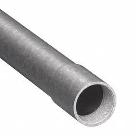 Intermediate Metal Conduit (IMC): 1/2 in Trade Size, Hot Galvanized, Steel, 0.81 in Conduit OD, 0.66 in Conduit ID