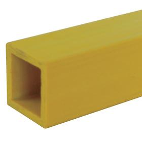 Square Sign Post: 6 ft Overall Lg, 2 in Overall Wd, Composite, Clear Veil, Yellow