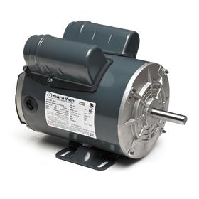 Totally Enclosed Air Over Belt-Drive HVAC Motor: TEAO, Capacitor-Start/Capacitor-Run, Rigid Base, Horizontal, 1 Speeds