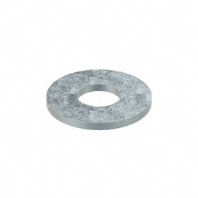 Flat Washer: Steel, Zinc Plated, Low Carbon Material Grade, For 7/8 in Screw Size, 0.938 in ID, 2.25 in OD, 25 PK