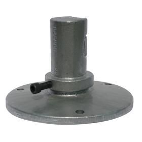Surface Mount Coupler: For Round Sign Posts 2 3/8 in Dia, 4 3/4 in Overall Ht, 7 in Overall Wd, Cast Iron