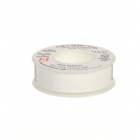 Pipe Thread Sealant Tape: High, MIL-T-27730A & MIL-A-A-58092, 1/2 in Wd, 520 in Lg, White, -400° F Min Op Temp