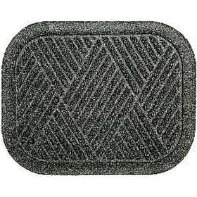 Vehicle Floor Protection Mat: Rubber, 1 1/4 ft Wd, 1 1/2 ft Lg, Charcoal, 70 Haz Material Indicator
