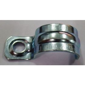 Single Hole Conduit Clamp: 1 in Compatible Pipe Size, Steel, Electro-Plated Zinc, EMT, 50 PK