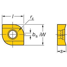 Sandvik Coromant Exchangeable Milling Head: 0.157 in Cutter Dia, Carbide, TiAlN, 0.157 in Profile Radius, 4 Flutes