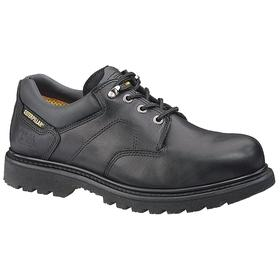 Work Shoe: Compression/Electrical Hazard/Impact/Slip Resistant, D Shoe Wd, 10 1/2 Men's Size, Men, Steel, Black, 1 PR