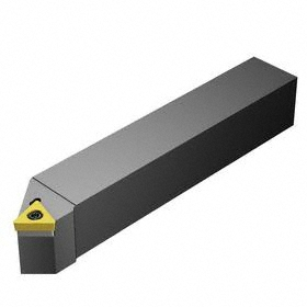 Sandvik Coromant Indexable Turning Toolholder: 1/2 in Shank Wd, 1/2 in Shank Ht, 3 1/2 in Overall Lg, 45° Side Cutting Edge Angle