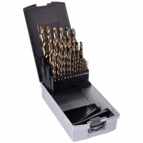 Jobbers-Length Twist Drill Bit: Parabolic Flutes, High Speed Steel, 118° Point Angle, Split, Black & Gold Oxide, Inch