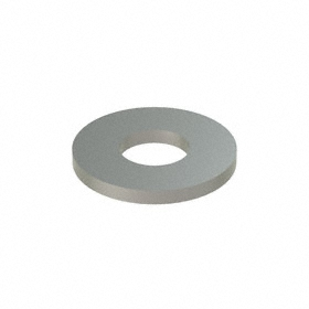 Flat Washer: 316 Stainless Steel, For 5/16 in Screw Size, 0.375 in ID, 0.875 in OD, 0.083 in Thickness, 50 PK