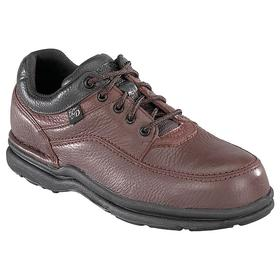 Static Dissipative Work Shoe: E Shoe Wd, 10 Men's Size, Men, Steel, Leather, Brown, Electrical Hazard Rated, 1 PR