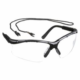 Gateway Safety Safety Glasses: Clear, Half Frame, Scratch Resistant, Black, ANSI Z87.1+/CSA Z94.3/MIL PRF-31013