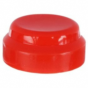 Schneider Electric Push Button Boot: 30 mm Compatible Panel Cutout Dia, Rubber, Red, Flush Compatible Operator, Screw On