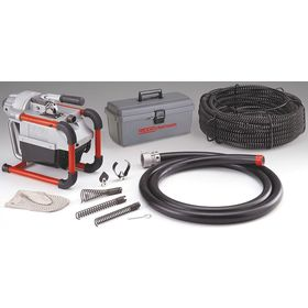 Ridgid Sectional Electric-Powered Drain Cleaning Machine: 150 ft For Max Run, Auto, 4.00 in For Max Compatible Drain Dia