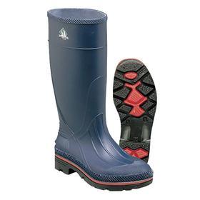 Protective Rubber Boot: D Shoe Wd, 6 Women's Size, Women, Plain, 15 in Shoe Ht, Navy, 1 PR