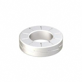 Wedge Lock Washer: Steel, Zinc Flake Coated, For 1/4 in Screw Size, 0.262 in Max ID, 0.495 in Max OD, 200 PK