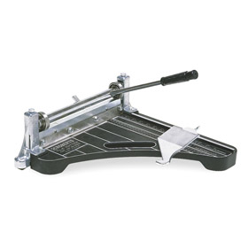 Tile Cutter: Vinyl Tile, 12 in Blade Lg, 9 in Max Diagonal Cut Lg, 1/8 in Max Material Thickness, Steel
