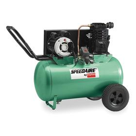Air Compressor: 3.0 hp Horsepower, Continuous, Oil Lubricated, 10.2 cfm Full Load Air Consumption, 20.0 gal Tank Size