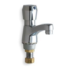 Chicago Faucets Metering Bathroom Faucet: 2.2 gpm Flow Rate, 1 ...