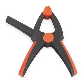 Adjustable-Capacity Spring Clamp: 2 1/8 in Max Opening Capacity, Plastic, 1 1/2 in Throat Dp, 1/2 lb Holding Capacity