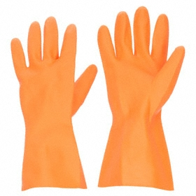 Chemical-Resistant Glove: Latex, 2XL Size, Unsupported, 28 mil Glove Material Thickness, 13 in Glove Lg, Smooth, 1 PR
