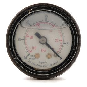 Pressure Gauge: California Prop65 Org, California Prop65 Wht, 43 Haz Material Indicator