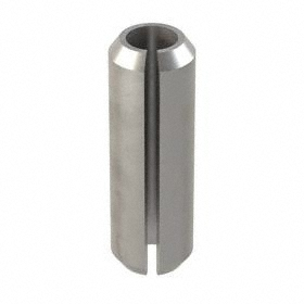 Slotted Spring Pin: Steel, Plain, 2 mm OD, Fits 2 Min Hole Dia, Fits 2.15 Max Hole Dia, 6 mm Overall Lg, 200 PK
