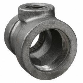 Anvil Black Pipe Tee: Cast Iron, 125 Class, 2 Pipe Size (Run 1), Female, NPT, 1 1/2 Branch Pipe Size