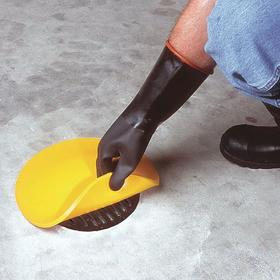 Drain Guard: Polyurethane, 3/8 in Thickness, Yellow, 30 in OD, NPDES/SPCC, 18 Haz Material Indicator