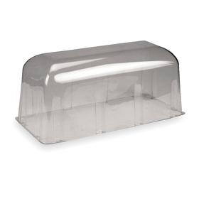 Acuity Lithonia Exit Sign Guard: 10 in Overall Ht, 9 3/4 in Overall Lg, Vandal Guard Shield, 24 Haz Material Indicator